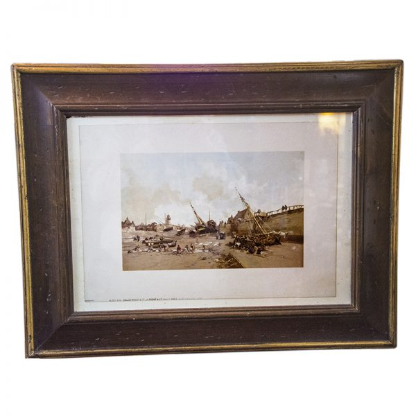 Lithograph – Boats in Harbour