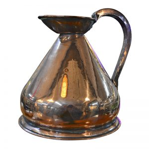 Antique Copper Weights and Measures 1 Gallon Jug