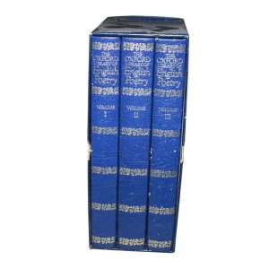 Boxed Set The Oxford Library of English Poetry