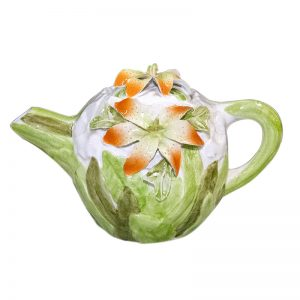 Small Teapot Decorated with Flowers.