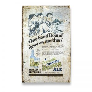 Newcastle Brown Tin Advertising Sign