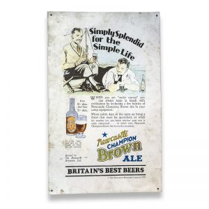 Newcastle Brown Advertising Tin Sign