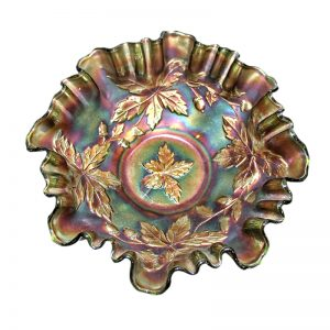 Pearlescent Carnival Glass Bowl
