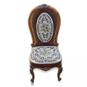 Victorian Carved and Beaded Nursing Chair