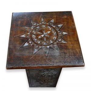 Carved Plant Stand